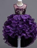 povoljno Beba & Djeca-Djeca Djevojčice Cvjetni print Haljina purpurna boja