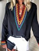 povoljno Majica s rukavima-Majica s rukavima Žene Dnevno Color block Crn