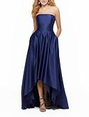 זול שמלות נשף-גזרת A סטרפלס א-סימטרי סאטן נשף רקודים שמלה עם קפלים על ידי LAN TING Express