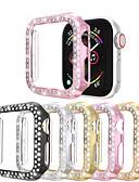 baratos Caso Smartwatch-Diamantes de linha dupla assistir caso para apple watch series 4/3/2/1 caso mulheres estilo diamante capa para iwatch 40mm / 44mm / 38mm / 42mm pára-choques acessórios