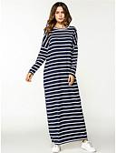 povoljno Ženske haljine-Žene Osnovni Ulični šik Shift Haljina - Kolaž, Prugasti uzorak Maxi