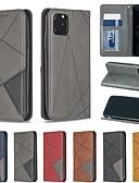 povoljno Zaštitne folije za iPhone-Θήκη Za Apple iPhone 11 / iPhone 11 Pro / iPhone 11 Pro Max Utor za kartice / sa stalkom / Zaokret Korice Geometrijski uzorak PU koža