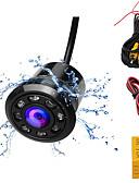 baratos Carregadores Sem Fio-câmera de visão traseira do carro com 8 luz led e nevoeiro câmera de estacionamento com ângulo de visão de 170 graus para o carro