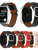 billige Leather Watch Band-ekte skinnløkke stropp for apple watch band 44mm / 40mm / 42mm / 38mm moderne stil armbånd armbånd armbånd til iwatch serie 4/3/2/1