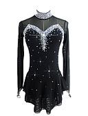 Χαμηλού Κόστους Φόρεμα για παγοδρομία-Φόρεμα για φιγούρες πατινάζ Γυναικεία Κοριτσίστικα Patinaj Φορέματα Μαύρο Ελαστικό Ανταγωνισμός Ενδυμασία πατινάζ Χειροποίητο Κλασσικά Πατινάζ Πάγου Πατινάζ για φιγούρες