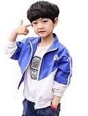 halpa Poikien hupparit ja collegepaidat-Lapset Poikien Perus Color Block Jakku ja takki Vaalean sininen