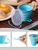 billige Lær-Kopp 270 ml Silikon Matbokser Bærbar Foldbar fortielse til Avslappet Utendørs Trening Reise 1 pcs Hvit Oransje Blå kaffe