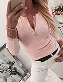 cheap Women's T-shirts-Women's Daily Basic Blouse - Solid Colored Blushing Pink