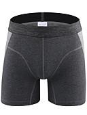 olcso Férfi pólók és atléták-férfi normál pamut boxer alsóneműk - alapvető 1 darab derék közepén világosszürke sötétszürke szürke l xl xxl
