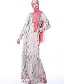 billige AirPods Cases-Arabian Voksne Dame Cosplay Fritid / hverdag Cosplay Kostumer Arabisk kjole hijab Til Fest Halloween Polyester Broderi Halloween Karneval Maskerade Kjole
