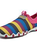 Χαμηλού Κόστους Γυναικεία Πουλόβερ-Γυναικεία Αθλητικά Παπούτσια Επίπεδο Τακούνι Στρογγυλή Μύτη Δίχτυ Τρέξιμο Καλοκαίρι Βυσσινί / Φούξια / Γκρίζο / Συνδυασμός Χρωμάτων