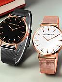 ราคาถูก นาฬิกาสวมใส่เข้าชุด-สำหรับผู้ชาย นาฬิกาตกแต่งข้อมือ นาฬิกาอิเล็กทรอนิกส์ (Quartz) รูปแบบชุดเป็นทางการ ตารางไขว้ สแตนเลส ดำ / เงิน / Rose Gold นาฬิกาใส่ลำลอง ระบบอนาล็อก แฟชั่น ที่เรียบง่าย - สีดำ Rose Gold Black / Rose