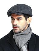 Χαμηλού Κόστους Men's Hats-Ανδρικά Συνδυασμός Χρωμάτων Βασικό Κασμίρ Βαμβάκι Ακρυλικό Μπερές Καπελίνα Φθινόπωρο Χειμώνας Βαθυγάλαζο
