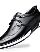 Χαμηλού Κόστους Αντρικά Πουκάμισα-Ανδρικά Δερμάτινα παπούτσια Δέρμα Άνοιξη / Φθινόπωρο & Χειμώνας Βρετανικό Oxfords Μη ολίσθηση Μαύρο / Άσπρο / Ασημί