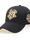Χαμηλού Κόστους Men's Hats-Γιούνισεξ Φλοράλ Ενεργό Λινό Ακρυλικό Τζόκεϊ Άνοιξη Καλοκαίρι Μαύρο Λευκό