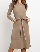 olcso Női ruhák-Női Alap Swing Ruha Egyszínű Midi