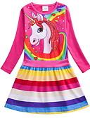 cheap Girls' Dresses-Kids Girls' Cute Cartoon Dress Light Blue