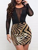 Χαμηλού Κόστους Βραδινά Φορέματα-Γυναικεία Εφαρμοστό Θήκη Φόρεμα - Συνδυασμός Χρωμάτων Πάνω από το Γόνατο