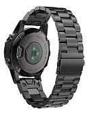 baratos Cabos e Carregador para Celular-Pulseira smartwatch para fenix6s / fenix6s pro garmin fivela clássica pulseira de aço inoxidável