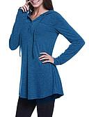 olcso Női szőrme és műszőrme kabátok-Női Alkalmi / aranyos stílus Kapucnis felsőrész Egyszínű