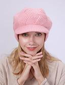 Χαμηλού Κόστους Καπέλα του μπέιζμπολ-Γυναικεία Μονόχρωμο Βασικό Ακρυλικό Καπελίνα Χειμώνας Μαύρο Κρασί Βυσσινί