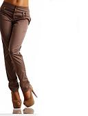 halpa Naisten housut-Naisten Perus Chinos housut Housut - Yhtenäinen Musta Uima-allas Khaki S M L