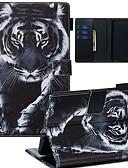 זול מקרה אחר-מגן עבור Amazon להדליק Paperwhite 2018 ארנק / מחזיק כרטיסים / תבנית כיסוי מלא חיה עור PU / TPU