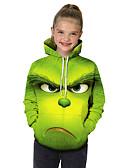 baratos Moletons Para Meninas-Infantil Bébé Para Meninas Activo Básico Feras Fantásticas Geométrica Estampado Estampa Colorida Estampado Manga Longa Moleton & Blusa de Frio Verde