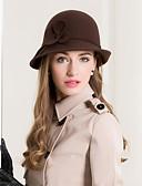 Χαμηλού Κόστους Αξεσουάρ-100% Μαλλί Καπέλα με Φλοράλ 1pc Causal / Καθημερινά Ρούχα Headpiece