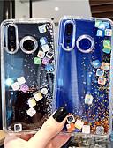 ราคาถูก เคสสำหรับโทรศัพท์มือถือ-Case สำหรับ Huawei หัวเว่ยโนวา 4 / Huawei P20 Pro / Huawei P20 lite Flowing Liquid / Glitter Shine ปกหลัง เลขาคณิต TPU