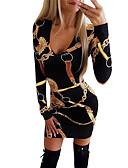 povoljno Ženske haljine-Žene Osnovni Boho Bodycon Korice Haljina - Kolaž Print, Geometrijski oblici Color block Iznad koljena
