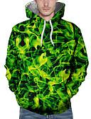 povoljno Muške majice s kapuljačom i trenirke-Muškarci Ležerne prilike Hoodie Geometrijski oblici / Color block / Lik
