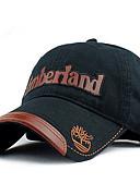 Χαμηλού Κόστους Men's Hats-Γιούνισεξ Συνδυασμός Χρωμάτων Ενεργό Βασικό χαριτωμένο στυλ Βαμβάκι Τζόκεϊ Καπέλο ηλίου Όλες οι εποχές Μαύρο Βαθυγάλαζο Χακί