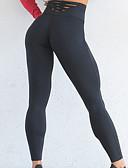 billige Jumpsuits og sparkebukser til damer-Dame Høyt liv Yogabukser Helfarge Løp Trening Treningsøkt Bunner Sportsklær Pustende Fukt Wicking Fort Tørring Butt Lift Midjekontroll Elastisk