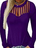 Χαμηλού Κόστους Γυναικεία Πουλόβερ-Γυναικεία T-shirt Μονόχρωμο Μαύρο