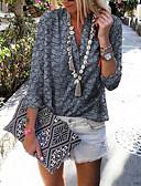 baratos Camisas Femininas-Mulheres Camisa Social Geométrica Roxo