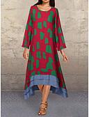 olcso Női ruhák-Női Elegáns Egyenes Ruha Mértani Midi
