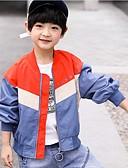 halpa Poikien hupparit ja collegepaidat-Lapset Poikien Perus Color Block Jakku ja takki Rubiini
