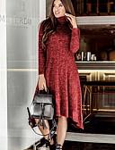 povoljno Ženske haljine-Žene Swing kroj Haljina Jednobojni Do koljena