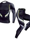Χαμηλού Κόστους Μηχανικά Ρολόγια-Ανδρικά Συσκευασία συμπίεσης 1set Χειμώνας Τρέξιμο Fitness ΑΘΛΗΤΙΚΑ ΡΟΥΧΑ καμουφλάζ Γρήγορο Στέγνωμα Ρούχα σύνολα Ρούχα Γυμναστικής Υψηλή Ελαστικότητα Κανονικό