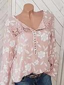 ราคาถูก ชุดเดรสลูกไม้สุดโรแมนติก-สำหรับผู้หญิง เสื้อสตรี ลายพิมพ์ ลายดอกไม้ สีดำ / ฤดูใบไม้ผลิ / ตก