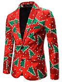 billige Hettegensere og gensere til herrer-Herre Blazer Skjortekrage Polyester Regnbue