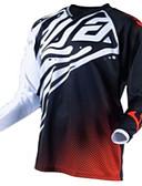 Χαμηλού Κόστους Φορέματα NYE-Ανδρικά Μακρυμάνικο Φανέλα ποδηλασίας Downhill Jersey Dirt Bike Jersey Χειμώνας Προβιά 100% Πολυέστερ Μαύρο / Κόκκινο Γεωμτερικό Ποδήλατο Αθλητική μπλούζα Μοτοσικλέτα Ρούχα Μπολύζες / Αντιανεμικό