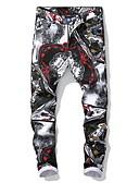 זול מכנסיים ושורטים לגברים-בגדי ריקוד גברים סגנון רחוב צ'ינו מכנסיים - דפוס שחור US32 / UK32 / EU40 US34 / UK34 / EU42 US36 / UK36 / EU44