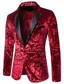 povoljno Zentai odijela-Muškarci Sako, Color block Klasični rever Poliester Crn / Red / Žutomrk