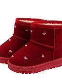 povoljno Lolita haljine-Djevojčice Čizme za snijeg Mikrovlakana / PU Čizme Mala djeca (4-7s) / Velika djeca (7 godina +) Crn / Crvena Jesen / Zima