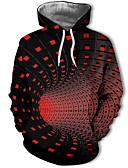 baratos Abrigos e Moletons Masculinos-Homens Casual / Moda de Rua Moletom Geométrica / Estampa Colorida / 3D