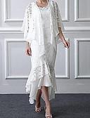olcso Örömanya ruhák-A-vonalú / Kétrészes Ékszer Aszimmetrikus Csipke Örömanya ruha val vel Rátétek által LAN TING Express / Stólával
