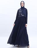 Χαμηλού Κόστους Περιπτώσεις AirPods-αραβικός Ενηλίκων Γυναικεία Στολές Ηρώων Καθημερινά Στολές Ηρώων Αραβικό φόρεμα Hijab Για Πάρτι Halloween Σιφόν Παγιέτες Halloween Απόκριες Μασκάρεμα Φόρεμα