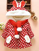 olcso Bébi divat-Baba Lány Aktív Pöttyös / Karácsony Nyomtatott Szokványos Toll és pamuttal bélelt Rubin / Kisgyermek